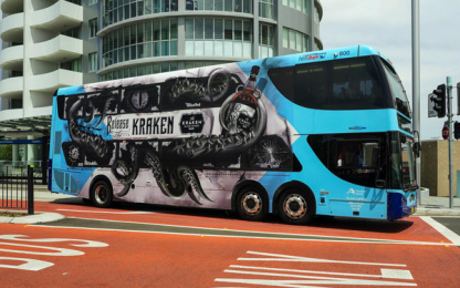 The Kraken Spice: The Kraken released in Sydney, 2 Outdoor Advert by Preoccupied Australia