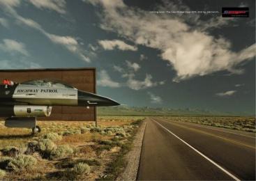 Dodge Viper Gts: HIGHWAY PATROL Print Ad by Q Werbeagentur