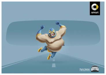 Smart Fortwo: Wrestler Print Ad by BBDO Dusseldorf