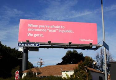 Postmates: We Get It - Açaí Outdoor Advert by 180 LA