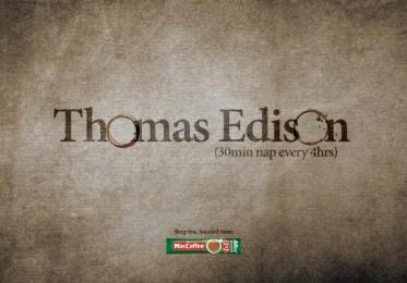 Maccoffee: Thomas Edison Print Ad by Cheil Kazakhstan