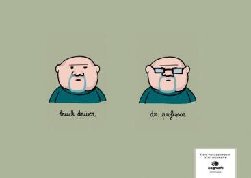 Oogmerk Opticians: Oogmerk Professor Print Ad by Lg&f