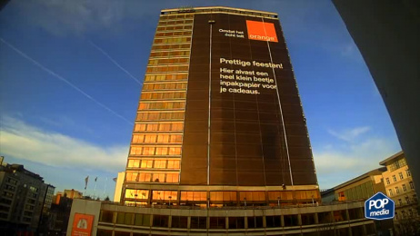 Orange: The largest wrapping paper [video] Outdoor Advert by Publicis Brussels