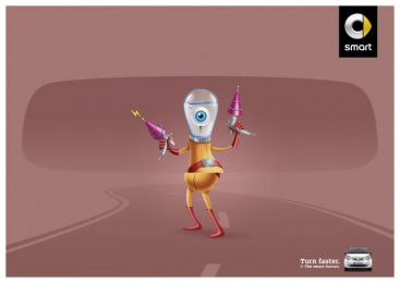 Smart Fortwo: Alien Print Ad by BBDO Dusseldorf