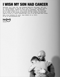 Harrison's Fund: I Wish My Son Had Cancer Print Ad by ais London