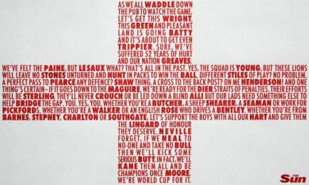 The Sun: Flag Print Ad by Pulse Creative London