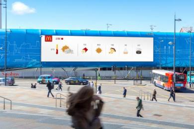 McDonald's: Weather-Reactive Outdoor - Liverpool Outdoor Advert by Leo Burnett London
