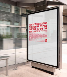 British Heart Foundation/ BHF: When You Least Expect It - Bus Shelter Outdoor Advert by MullenLowe London