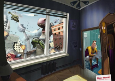 Soundproof Windows: Spiderman Print Ad by BBDO Moscow