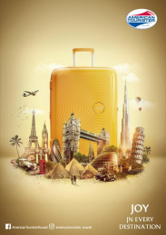 American Tourister: Joy in Every Destination, 2 Print Ad by FCB Kuwait