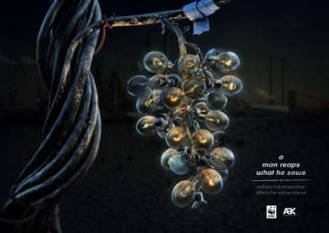 WWF: Grape Print Ad by ABK communications Tbilisi