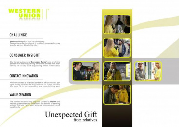 Western Union: GIFT FROM RELATIVES Print Ad by Starcom Istanbul