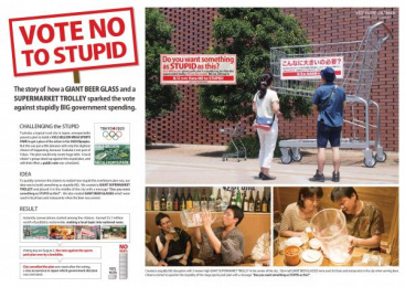 Giant Food Stores: Vote No To Stupid Case study by ADK Asatsu-DK Tokyo, East Japan Marketing & Communications, Kobo