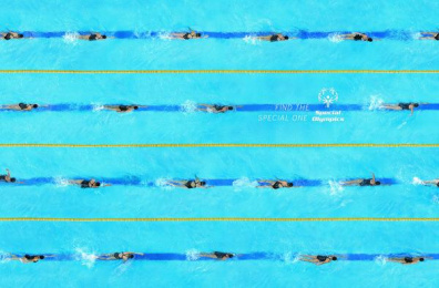 Special Olympics: Patterns - Swimming Print Ad by Shaktiprod, Y&R Mexico