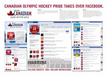 Molson Canadian Beer: GEAR UP FOR GOLD Promo / PR Ad by Zig