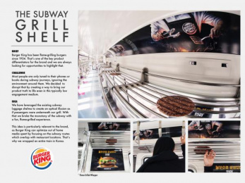 Burger King: The Subway Grill Shelf, 1 Outdoor Advert by Cheil Seoul