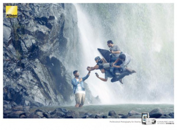 Coolpix S810: Waterfall Print Ad by DIGITAL ACTIVE, J. Walter Thompson Jakarta Indonesia