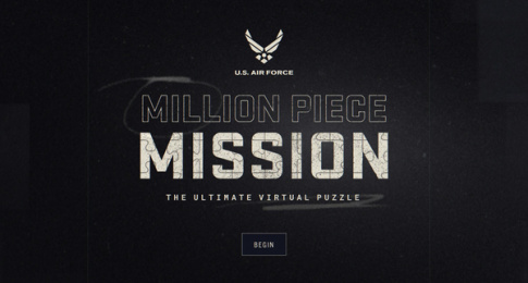 US Air Force: Million Piece Mission, 4 Digital Advert by GSD&M Austin