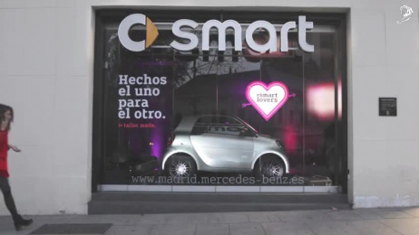 Smart: Chamaleon Outdoor Advert by Contrapunto BBDO Madrid, Cubensis