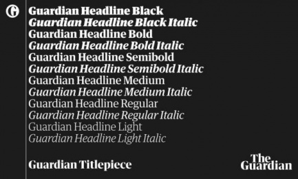 The Guardian: The Guardian Headline and Titlepiece fonts Design & Branding
