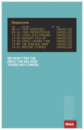 Which?: Train Print Ad by Grey London