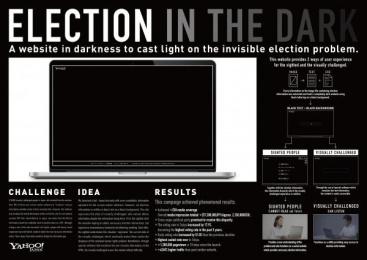 Yahoo!: Election In The Dark [image] Digital Advert by Birdman, Dentsu Inc. Tokyo