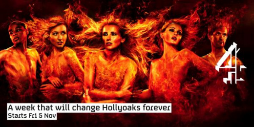 Channel 4: HOLLYOAKS FIRE Print Ad by 4creative