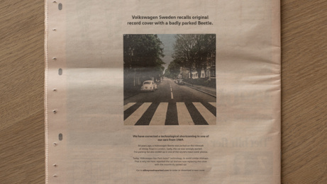 Volkswagen: Abbey Road with Park Assist, 6 Print Ad by DDB Stockholm