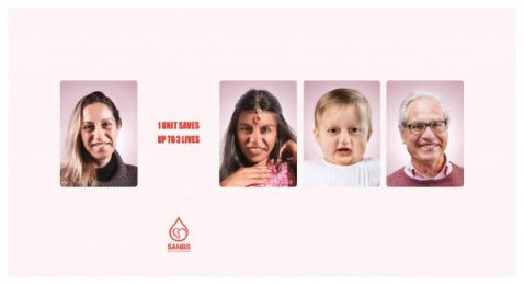 South African National Blood Service (SANBS): Faces 3 Print Ad by DDB Johannesburg