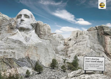 Beeline: Mount Rushmore Print Ad by RED Almaty