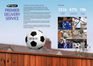 Bt Sport: Premier Delivery Service Print Ad by J. Walter Thompson London