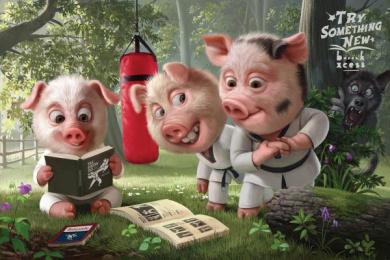 BookXcess: 3 Little Pigs Print Ad by Leo Burnett Kuala Lumpur