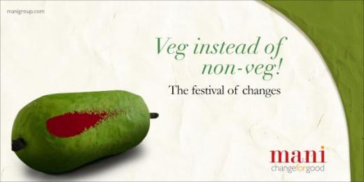 MANI: Veg instead of non-veg Print Ad by Response India
