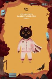 Cinema du Parc: Fantastic Mr. Fox Print Ad by Les Evades