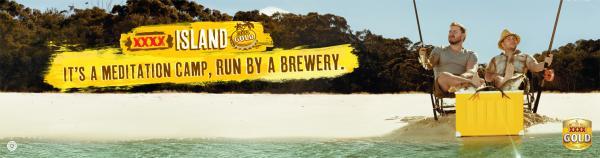 Xxxx Gold Beer: Meditation Camp Print Ad by BMF Australia