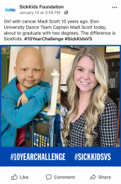 Sickkids Foundation: SickKids VS: #10YearChallenge, 7 Print Ad by Cossette Montreal