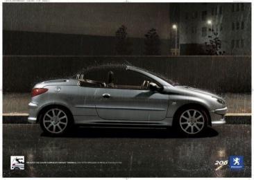 Peugeot 206: RAIN Print Ad by Euro Rscg Milan