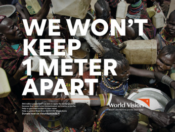 World Vision: We won't stay home, 3 Print Ad by Steve Paris