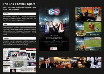 Sky Deutschland: SKY FOOTBALL OPERA Promo / PR Ad by Serviceplan Munich