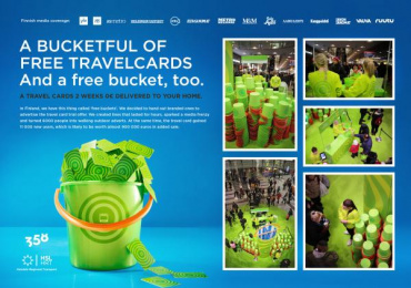 HSL Helsinki Region Transport: Free buckets Direct marketing by 358 Helsinki
