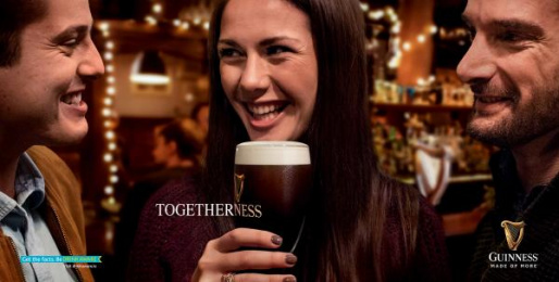 Guinness: Togetherness Print Ad by AMV BBDO London, Irish International BBDO Dublin