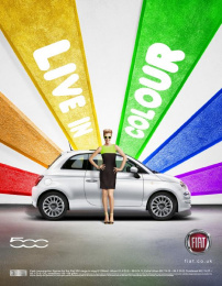 Fiat 500: Live in Colour Outdoor Advert by Krow Communications