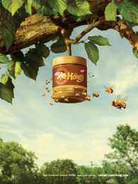 Kraft Peanut Butter with Honey: Beehive Print Ad by DraftFCB Toronto, Instil Productions Inc.