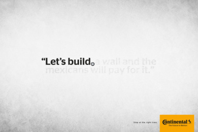 Continental: Stop at the right time: Let's build Print Ad by Rai Sao Paulo