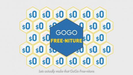 Gogo: Gogo Free-Niture [video] Digital Advert by Leo Burnett Hong Kong
