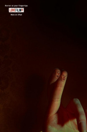 LOVEFiLM: Horror At Your Fingertips Print Ad by 18 Feet & Rising London