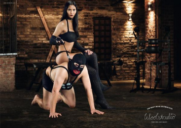 WOOL AND WOOLENS STORE: DOMINATRIX Print Ad by DDB Berlin