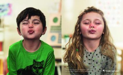 Försäkringskassan: THE SNOTTY KISS Print Ad by Lowe Brindfors Stockholm