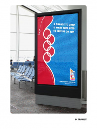 Dunkin Donuts: Power Our Olympians - In Transit Outdoor Advert by The Creative Circus