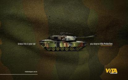Vita Blindagem: Tank Print Ad by FLEX And Comunicação